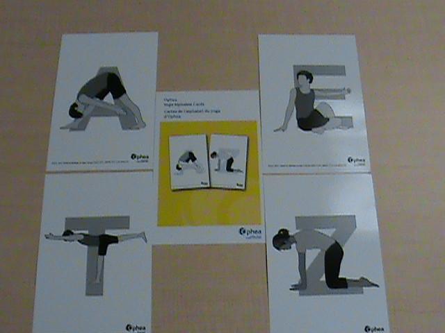 Ophea yoga alphabet cards = Cartes de l'alphabet du yoga d'Ophea.